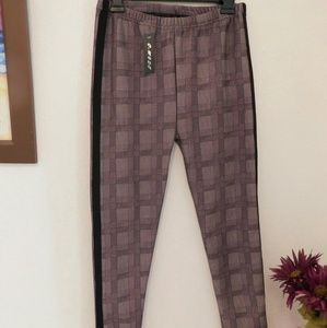 Gray square Leggings